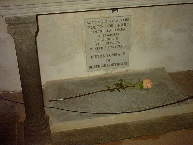Tomb of Beatrice Portinari, via Wikipedia