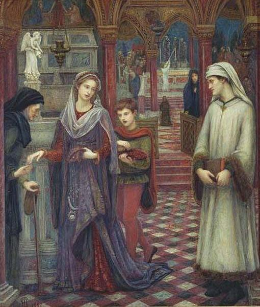 'Dante and Beatrice', Marie Spartali Stillman