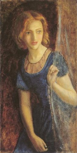 'Mariana at the Window', Arthur Hughes