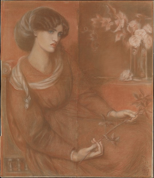 Study for 'Mariana' by Dante Gabriel Rossetti. Model: Jane Morris