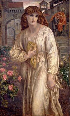 'The Salutation of Beatrice', Dante Gabriel Rossetti. Model, Jane Morris