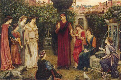 'Dante at Verona', Marie Spartali Stillman