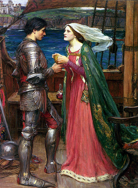 'Tristan and Isolde with the Potion', John William Waterhouse
