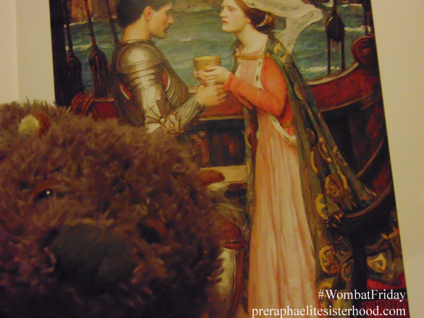 Wombat with the tragic lovers Tristan and Isolde, painted by John William Waterhouse