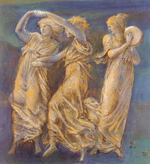 Study of three females dancing, Sir Edward Burne-Jones