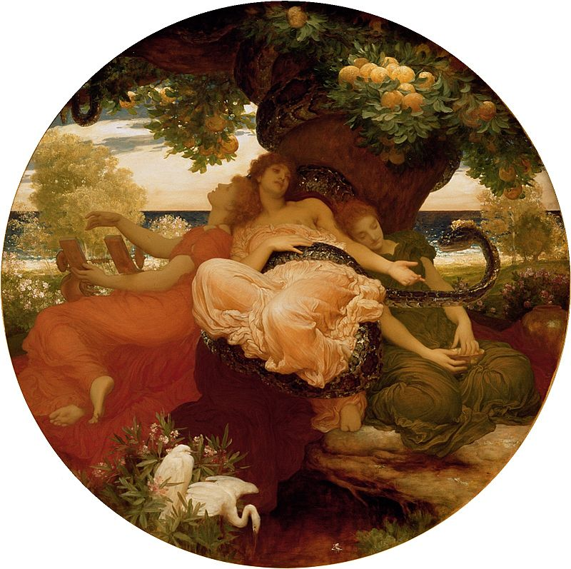 Fredric, Lord Leighton's painting of The Hesperides is equally beautiful.