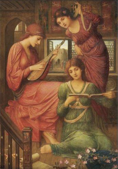 John Melhuish Strudwick, 'In The Golden Days'