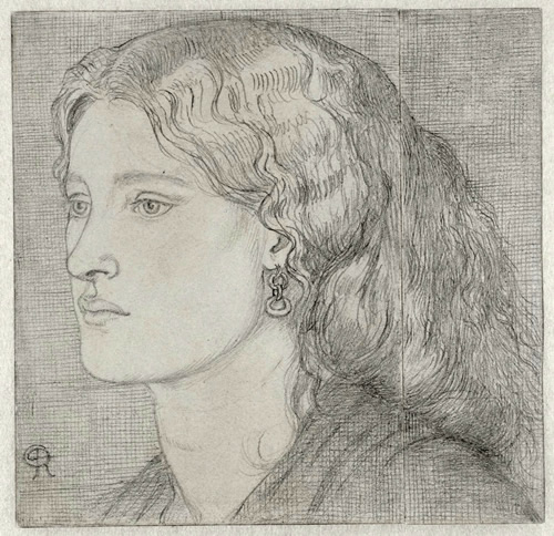 1859 drawing of Fanny by Dante Gabriel Rossetti