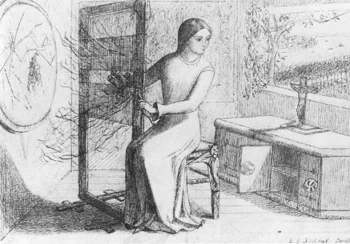 'The Lady of Shalott', Elizabeth Siddal (1854)
