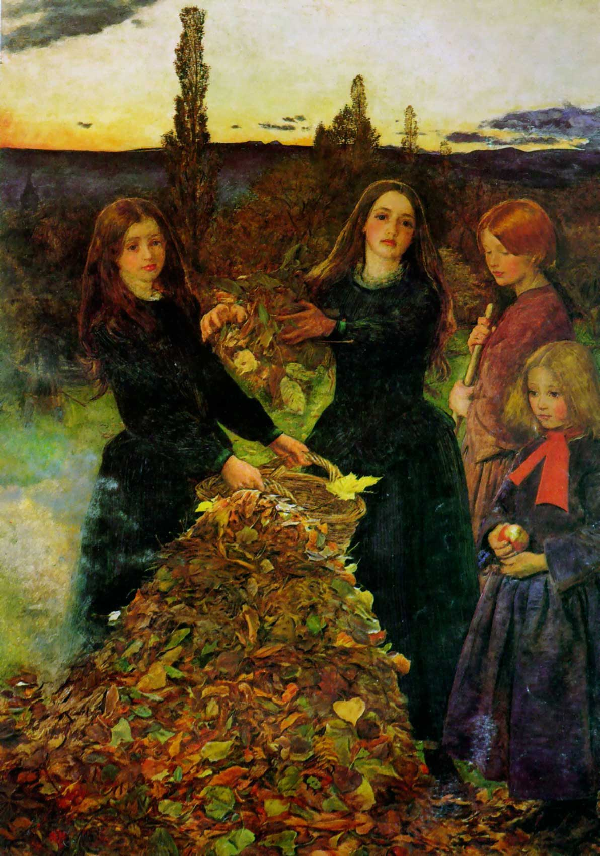 Autumn Leaves, Sir John Everett Millais, circa 1856