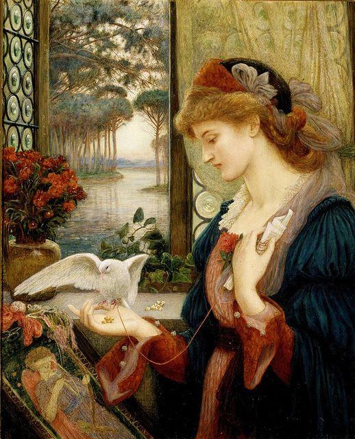 'Love's Messenger', Marie Spartali Stillman