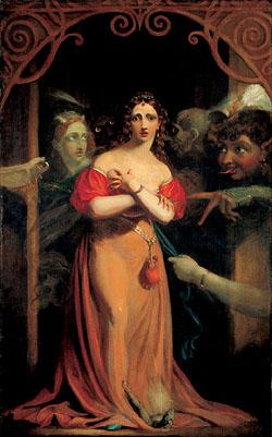 'Bertalda, Assailed by Spirits' by Theodore von Holst, inspired by 'Undine'.