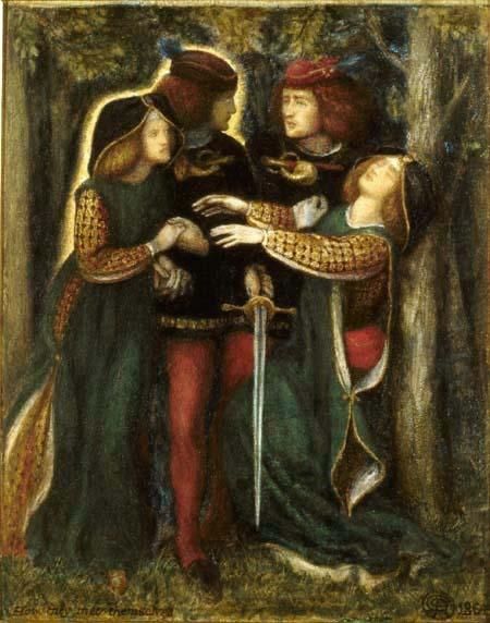 Another version of 'How They Met Themselves', Dante Gabriel Rossetti. I believe three versions exist.