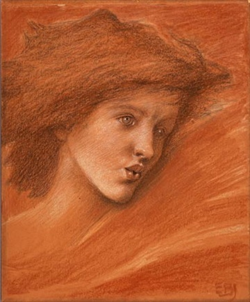 Study for 'Sponsa de Libano', Sir Edward Burne-Jones