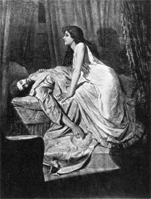 'The Vampire', Sir Philip Burne-Jones