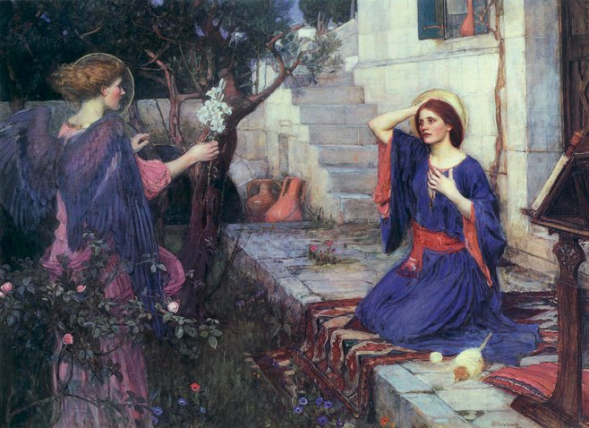 'The Annunciation', John William Waterhouse
