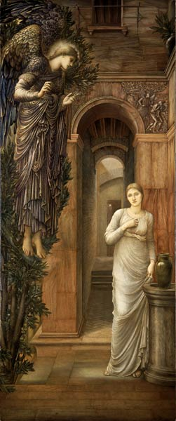 'The Annunciation', Sir Edward Burne-Jones, 1876-79