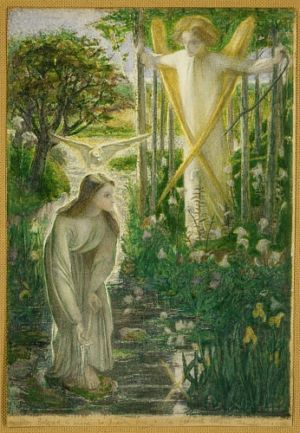 'The Annunciation', Dante Gabriel Rossetti. Via RossettiArchive.org