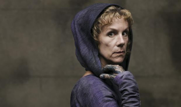 Juliet Stevenson as the Oracle in BBC's Atlantis.
