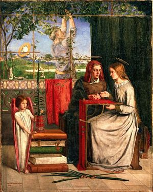 'The Girlhood of Mary Virgin', Dante Gabriel Rossetti (1849)