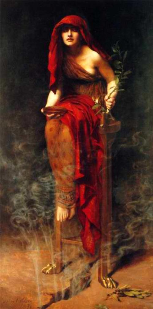'The Priestess of Delphi', John Collier