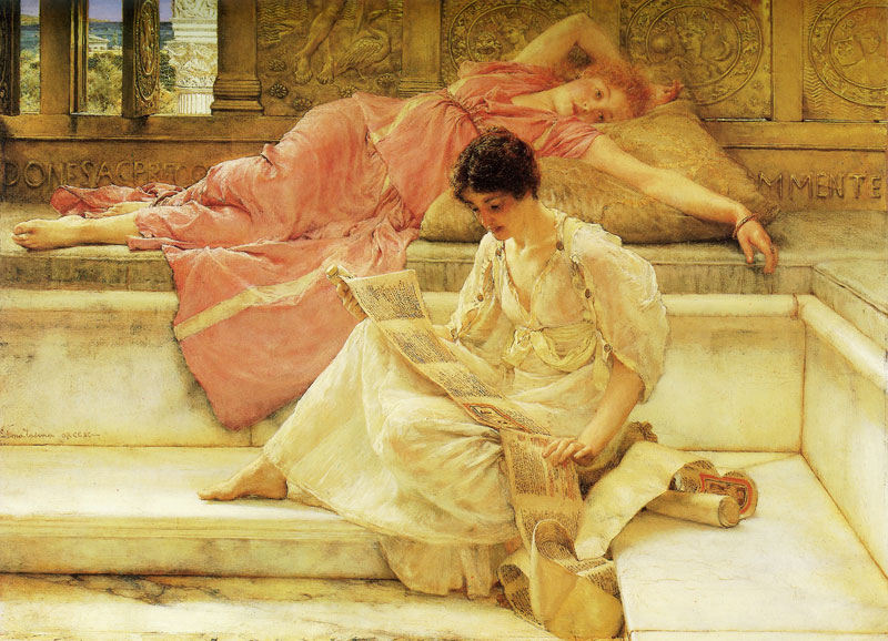 'The Favourite Poet', Sir Lawrence Alma-Tadema