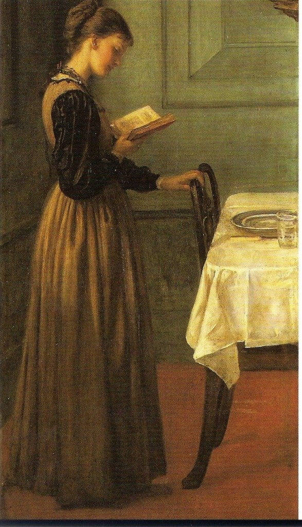 'Study of a girl reading', Valentine Cameron Prinsep