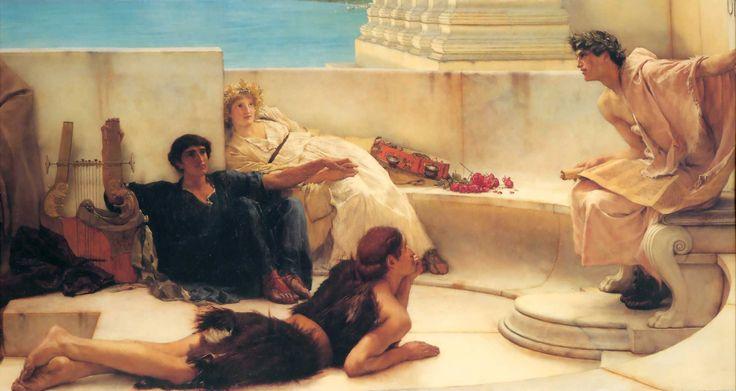 'A Reading from Homer', Sir Lawrence Alma-Tadema