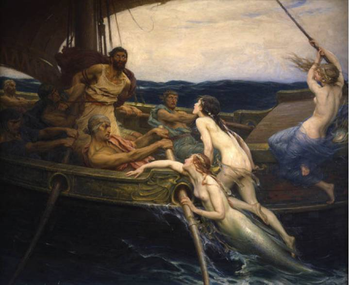 'Ulysses and the Sirens', Herbert James Draper