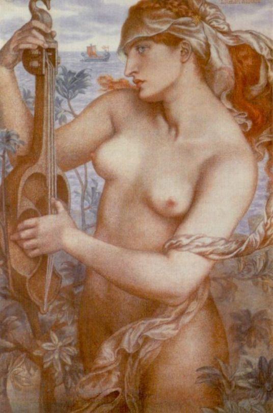 'Ligeia Siren', Dante Gabriel Rossetti