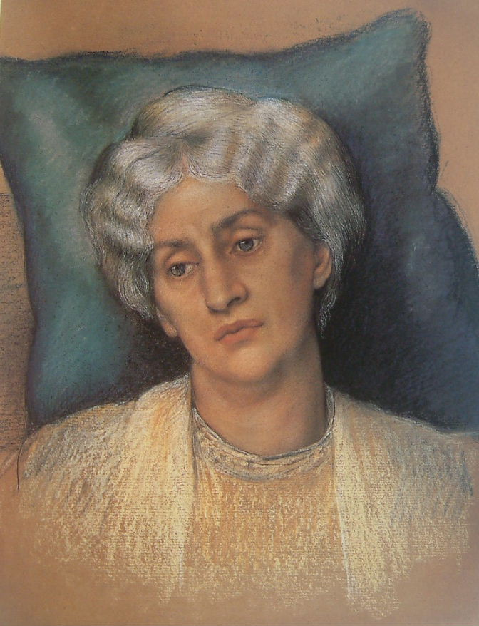 Study of Jane Morris by Evelyn De Morgan