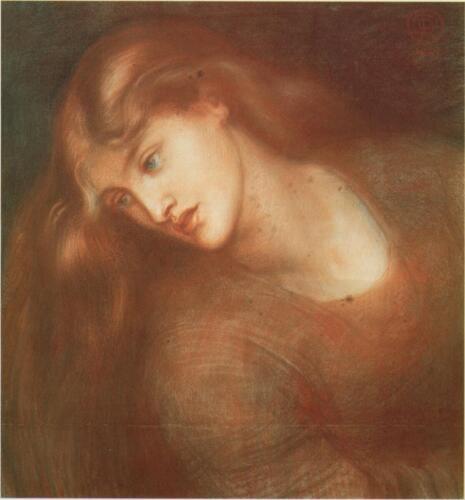 Study for Aspecta Medusa, Dante Gabriel Rossetti