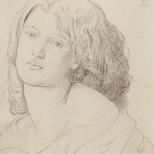 Drawing of Fanny Cornforth by Dante Gabriel Rossetti