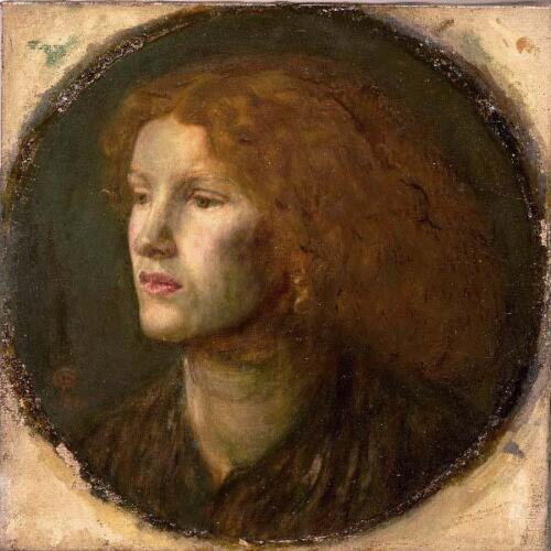 Portrait of Fanny Cornforth, circa 1860, by Dante Gabriel Rossetti