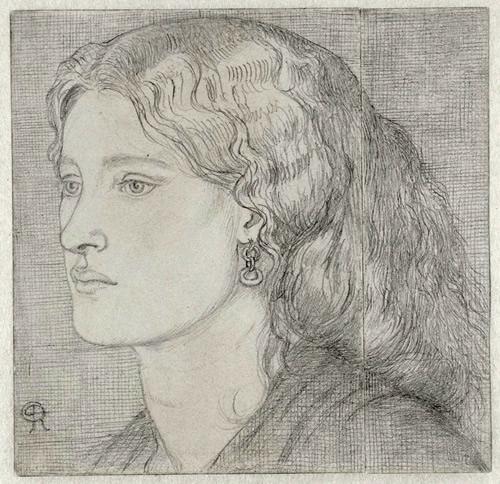 1859 drawing of Fanny by Dante Gabriel Rossetti
